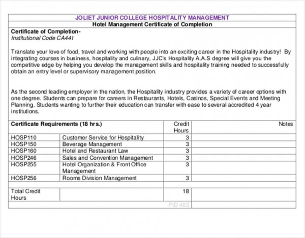 8+Business Management Certificates - 8+ Sample, Example, Template ...