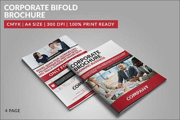 bifold corporate banking brochure