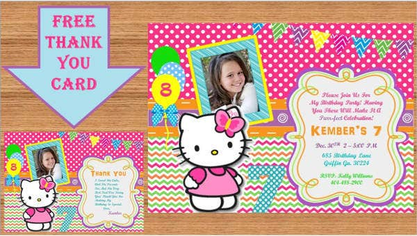 hello kitty photo invitations1