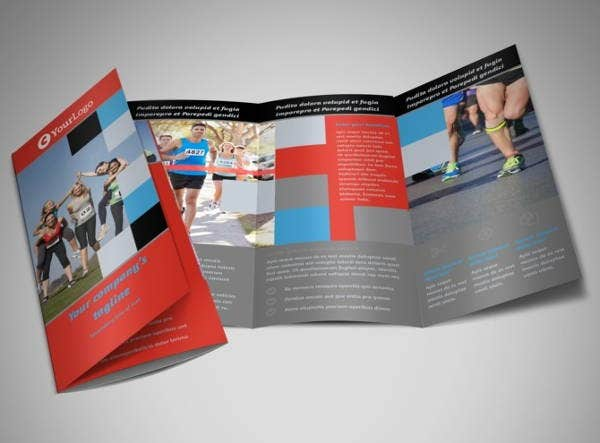 corporate fundraising trifold brochure