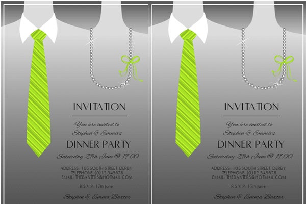 formal anniversary dinner invitation