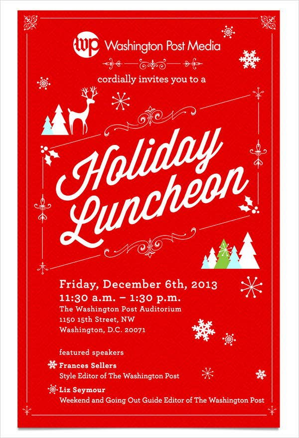 6 holiday lunch invitations jpg vector eps ai illustrator download free premium templates for Christmas lunch invitation