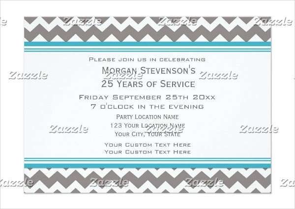employee anniversary dinner invitation
