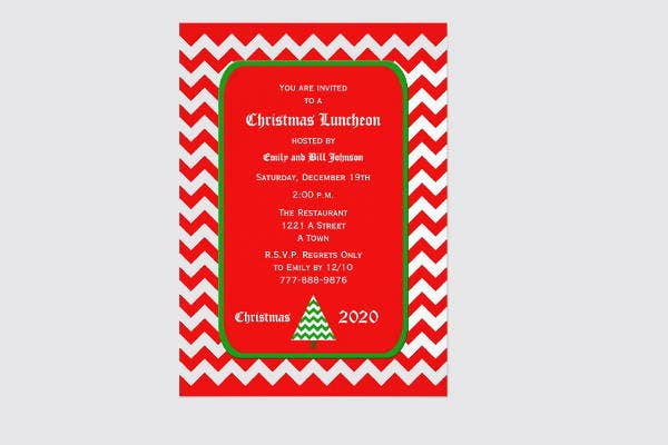 6  holiday lunch invitations