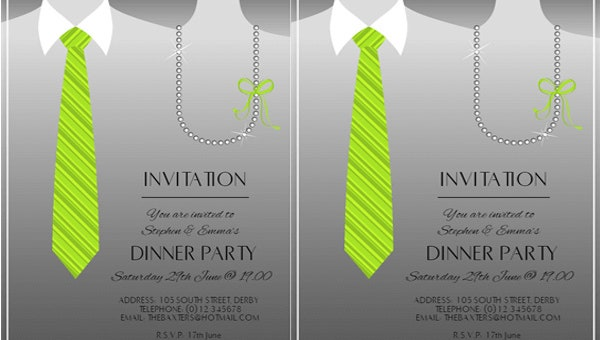 anniversary dinner invitation