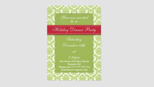 holiday dinner invitations