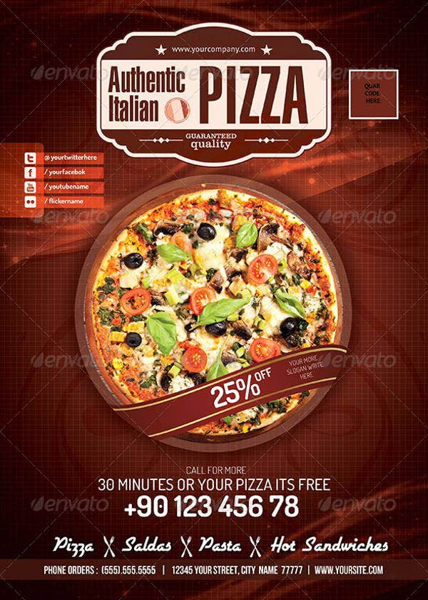 pizza restaurant opening flyer