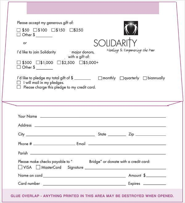 5+ Donation Envelope Templates - Free Printable Word, Psd, Pdf