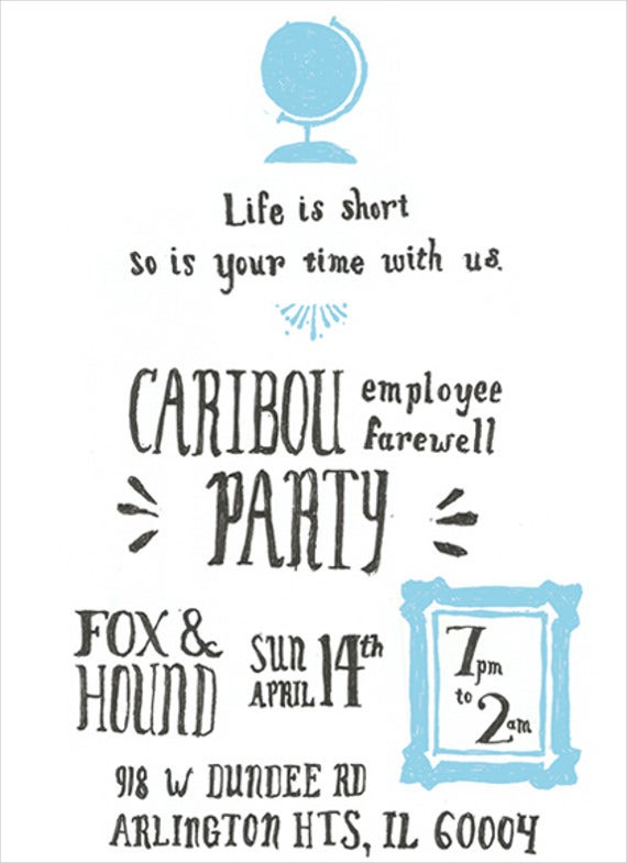 Exceptional Employee Farewell Dinner Invitation