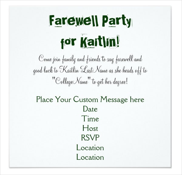 8 Farewell Dinner Invitations Jpg Vector Eps Ai