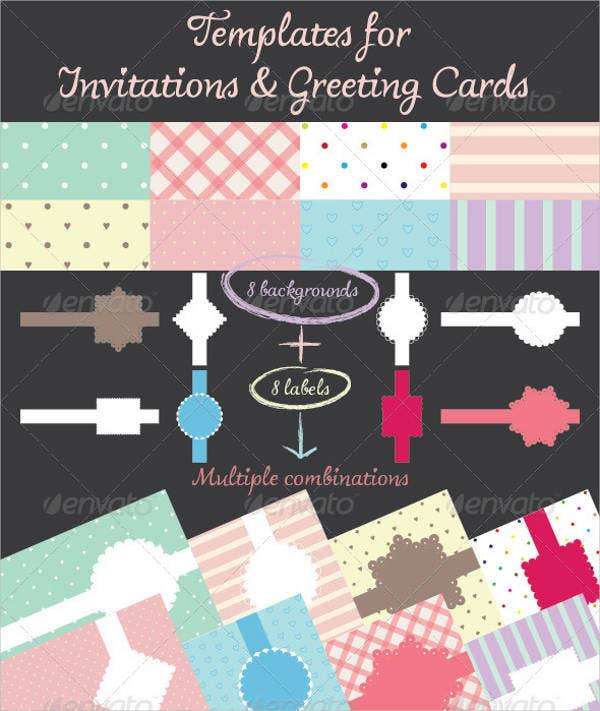 flash invitation greeting card
