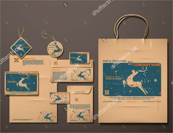 Reindeer Gift Bag Template