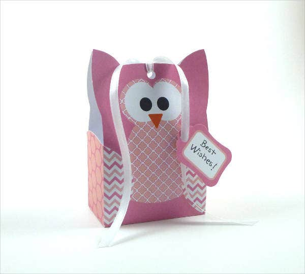 Owl Gift Bag Template