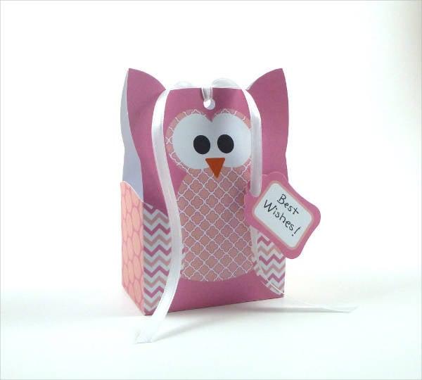 owl gift bag template