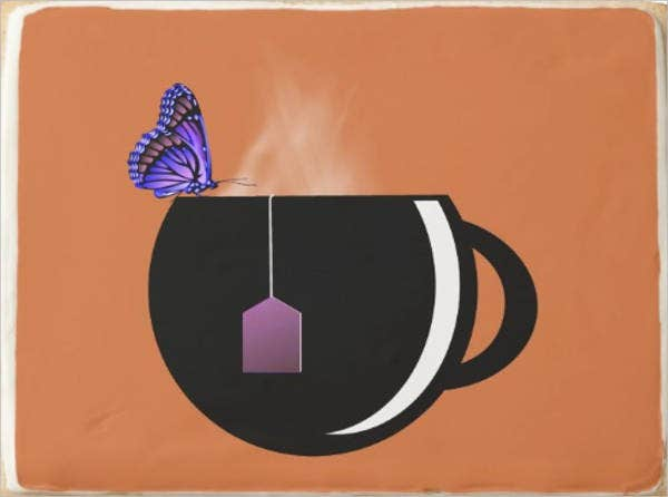 butterfly tea bag template