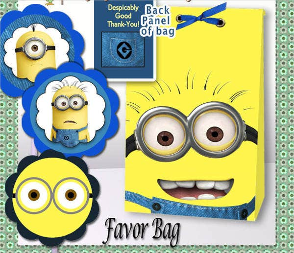 Minion Gift Bag Template