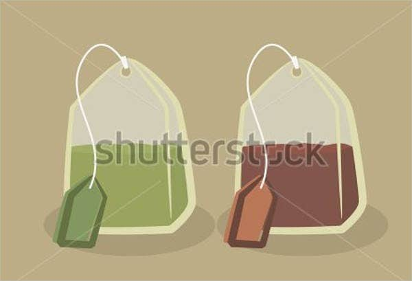 vintage tea bag template