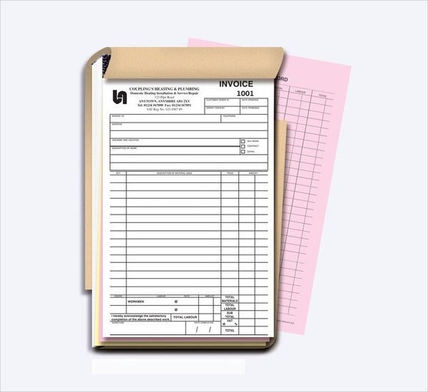 Tax Invoice Book Template