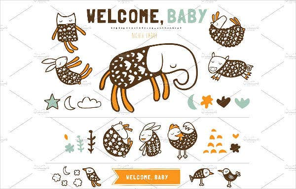 Personalized Welcome Baby Banner