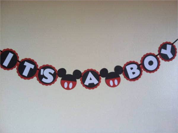 Mickey Mouse Welcome Baby Banner