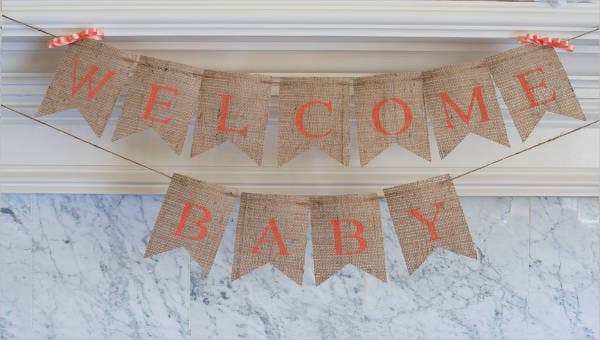 9 welcome baby banners