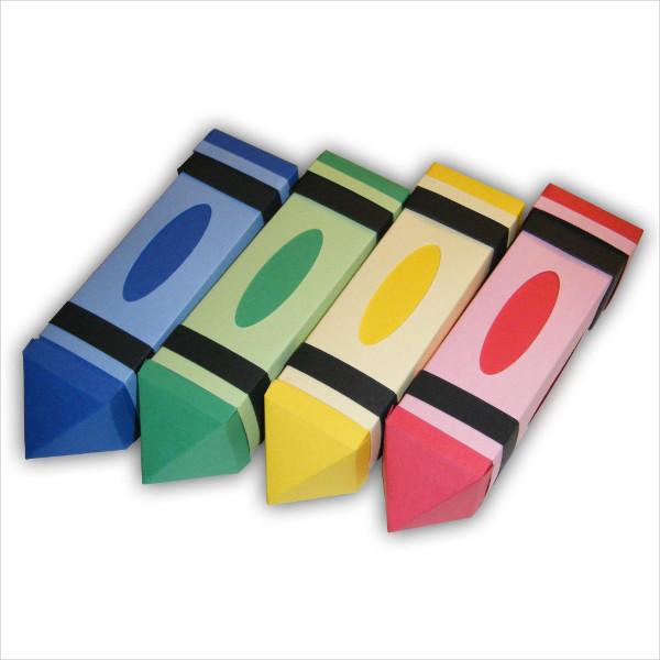 crayon gift box template