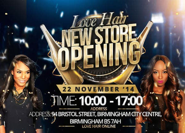 New Store Opening Flyer
