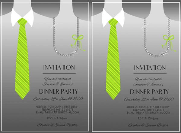 11 Team Dinner Invitations Jpg Vector Eps Ai Illustrator