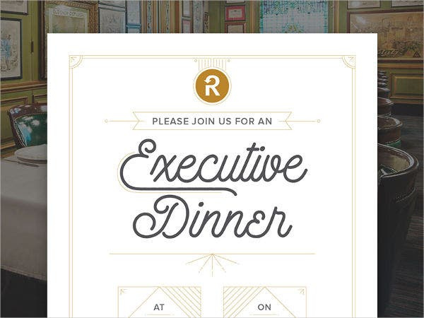 official dinner invitation