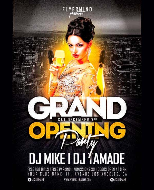 10 store opening flyer templates ai psd docs pages free