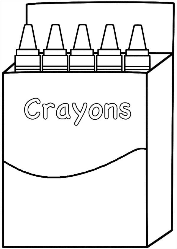 Kid S Crayon Box Template