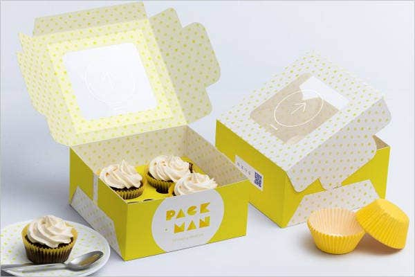 cupcake box packaging template