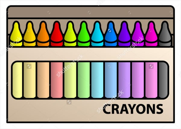 Crayon Box Packaging Template