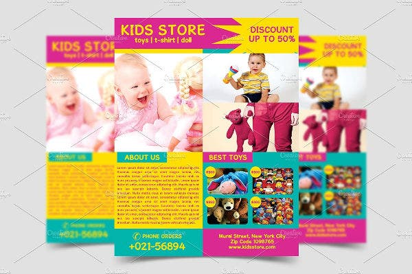 Kid's Store Opening Flyer