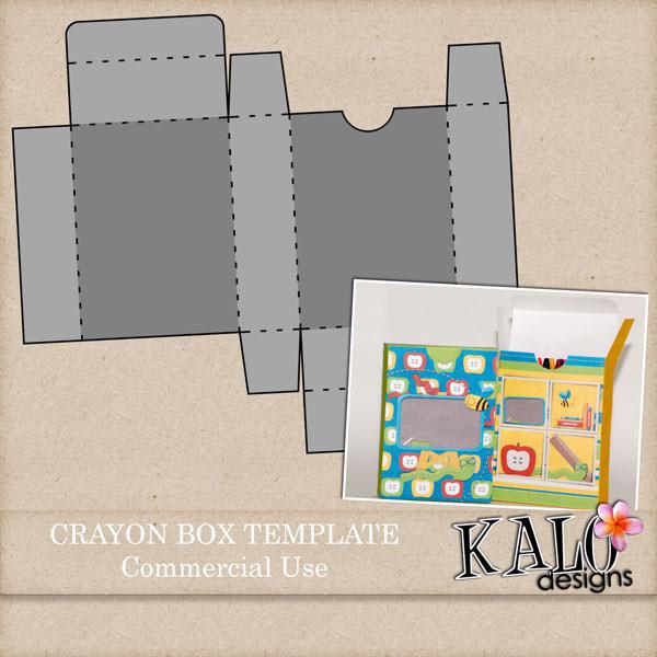 free psd crayon box template