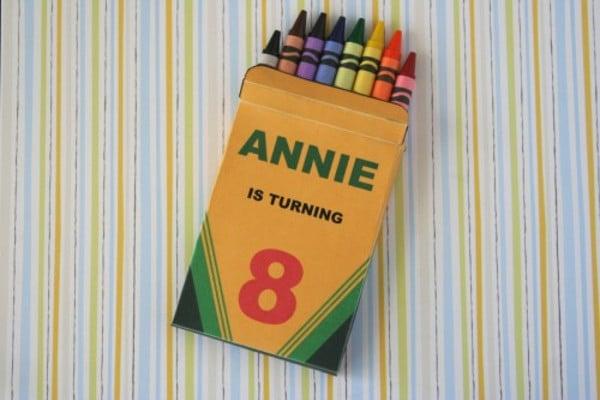 colorful crayon box template