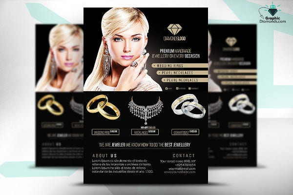 Jewelry Store Opening Flyer