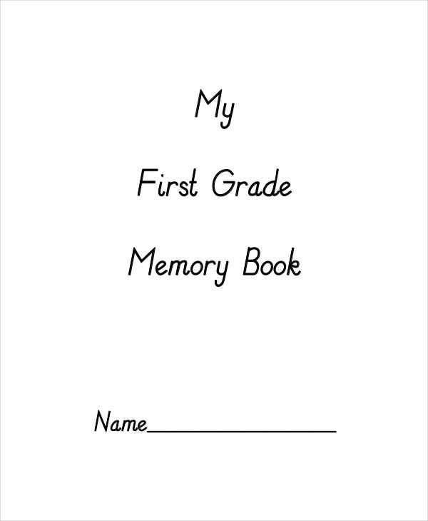 grade school memory book template