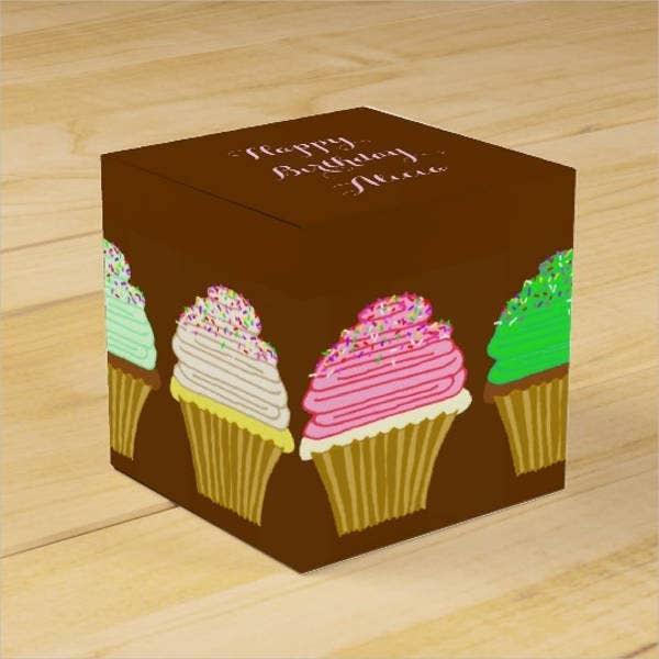 birthday cupcake box template