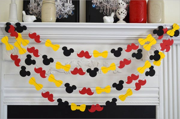 mickey mouse birthday welcome banner1