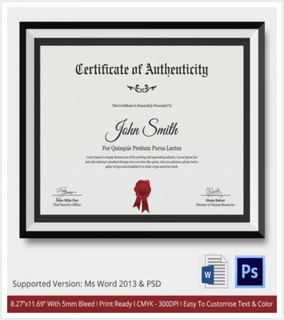 30 certificate template free premium templates free certificate of authenticity downloadable file yelopaper Image collections
