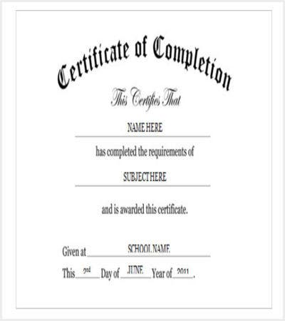 30 certificate template free premium templates free kindergarten preschool certificate of completion in word yadclub Choice Image