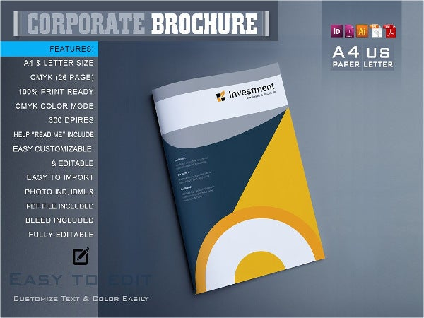 9 security company brochure templates editable psd ai for Information brochure template