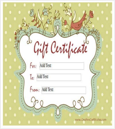 homemade gift certificate word template free download