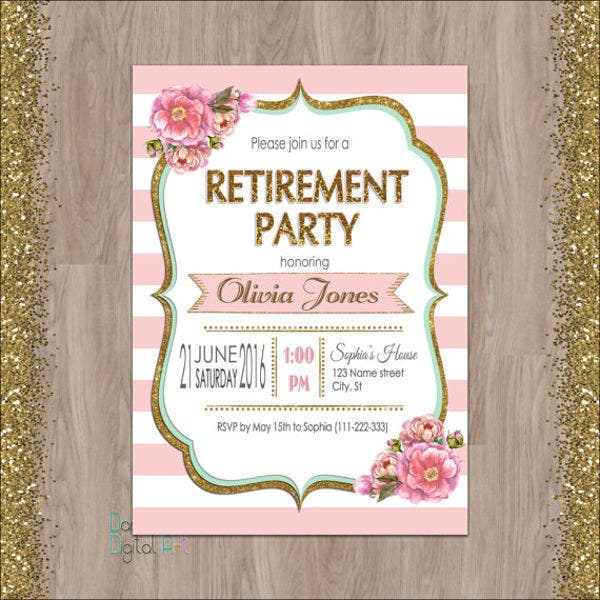 15 Farewell Lunch Invitation JPG Vector EPS Ai Illustrator