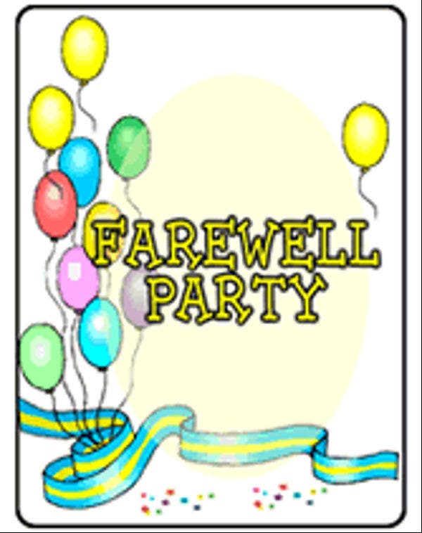 Farewell party cartoon images for Farewell banner template