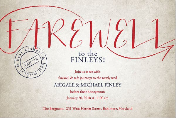 Farewell Lunch Invitations  Jpg Vector Eps Ai Illustrator