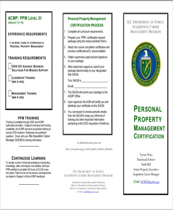 property management training certificate