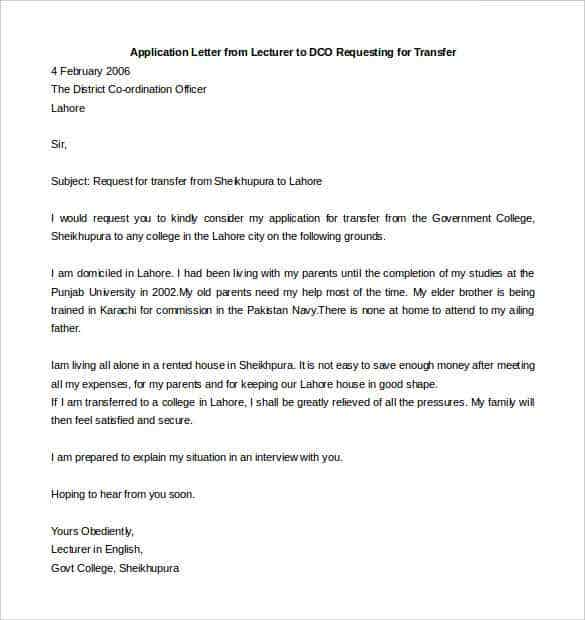 Job application letter english teacher thecheapjerseys Image collections