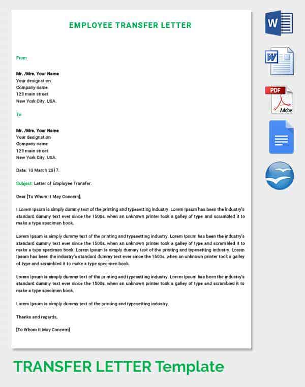 internal transfer letter template - internal transfer email announcement just b cause